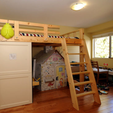 Custom BunkBed with Side-Cabinets