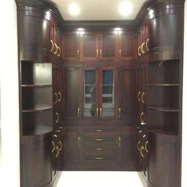 Curved Door Winery Cabinet